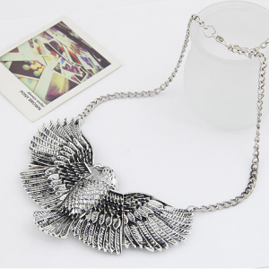 A583 Sliver Eagle Necklace