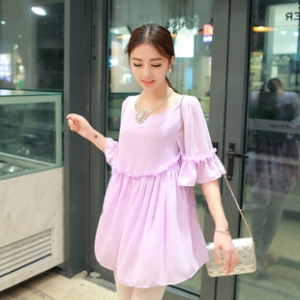 Baby-doll chiffon dress