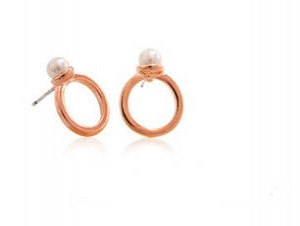 M12 Stylish Earrings Ear studs (Pink gold)