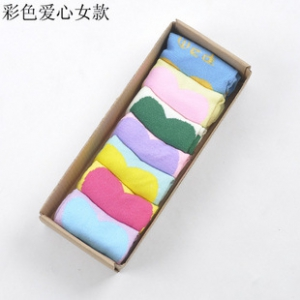 Heart design cotton socks (BOX)