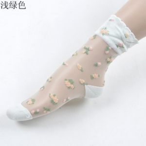 Transparent graze dots socks