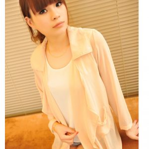 T813 Slim chiffon long cardigan