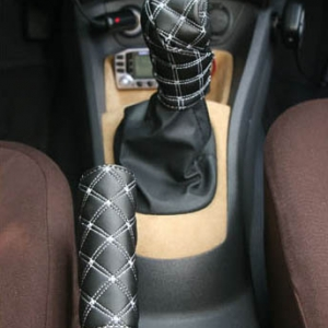 Automotive interior gear handbrake cover set