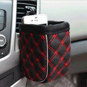 Interior barrel car phone pouch bags