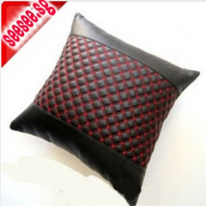 Microfiber leather car pillow