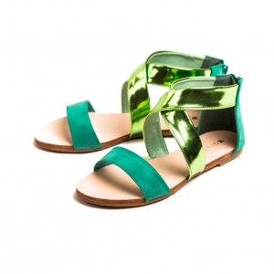 Green Ankle Strap Sandals