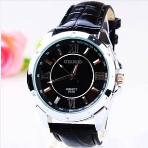 164282 Casual leather watch