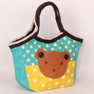 Waterproof cartoon ladies lunch bag / handbags