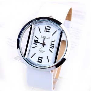 Defective item-159657 Trendy leather watch