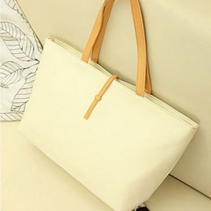 Simple design PU leather Handbags / Tote Bags