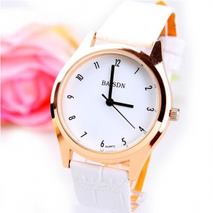165587 Casual leather watch