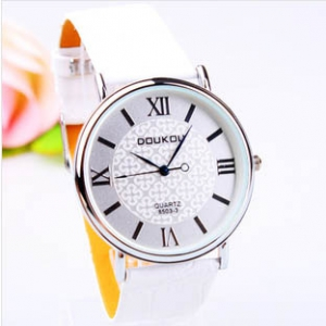 163202 Trendy simple design leather watch
