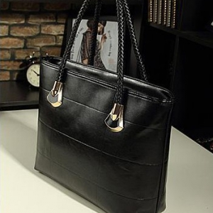 Korean Casual Messenger ladies bag ( Black)
