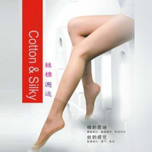 2223 Silk Ultra-thin Transparent Short Socks with cushion