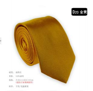 Fashion solid colour narrow tie D20