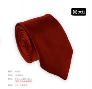 Fashion solid colour narrow tie D8