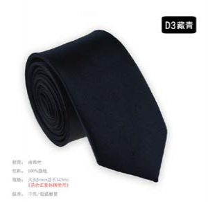 Fashion solid colour narrow tie D3
