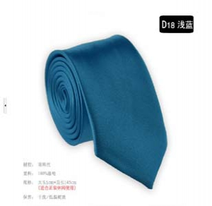 Fashion solid colour narrow tie