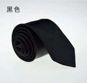 Fashion solid colour narrow tie D1