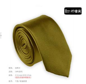 Fashion solid colour narrow tie D21
