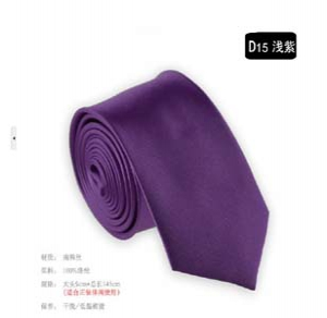 Fashion solid colour narrow tie D15