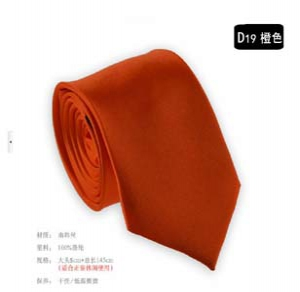 Fashion solid colour narrow tie D19