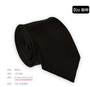 Fashion solid colour narrow tie D24