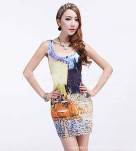Special offer -Defective  Body Fit Printed Dress