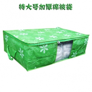 Jumbo Foldable Blanket Storage Box,Anti Dust Anti Mould With See Though Panel