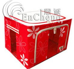 55L Durable Large Foldable Storage Box With Floral Prints, See Through Panel