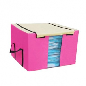 Foldable Storage Box With See Through Panel