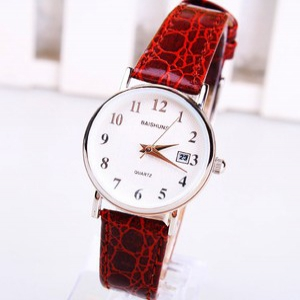 Ultra Thin Leather Strap Ladies Watch