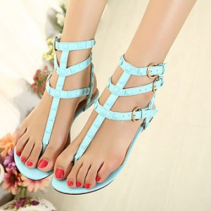 Strappy flats shoes