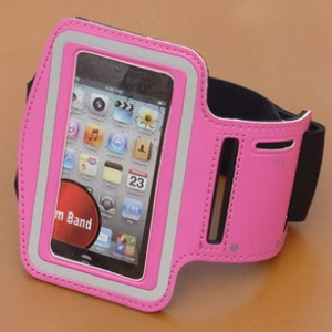 Iphone 4/5  Samsung S4 Mobile Case Universal Twill sports arm band phone casing(random design)