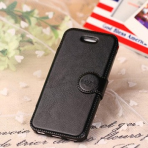 Iphone 5 / 5S round buckle PU leather flip cover