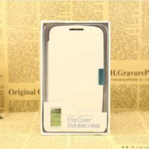 Samsung S4 leather flip cover with magnet lock