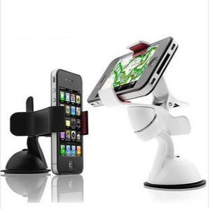 Clip-on mini-car phone holder