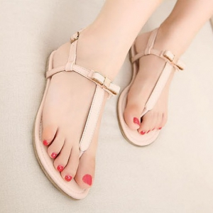 OpenToe Sandals With Sweet Bow