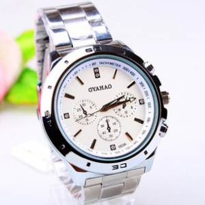 163427 Casual steel watch