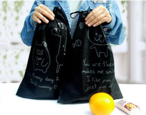 40*30 Oxford Waterproof Drawstring Travel Pouch