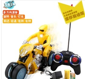Remote control stunt drift motorcycle
