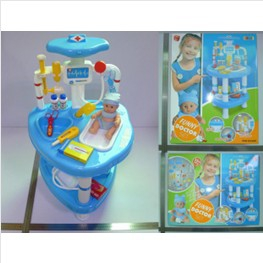 Doctor playset with baby doll