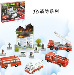 3D Fire fighting DIY paper puzzle