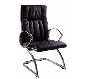 Genuine leather Swivel chair with armrest