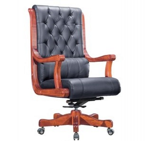 Wooden Frame leather office chair