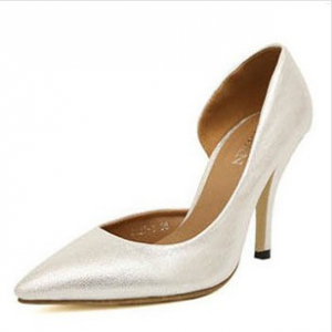 Silver pointed heels