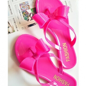 Jelly sandals with sweet bow