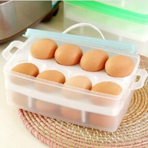 Portable storage box for eggs