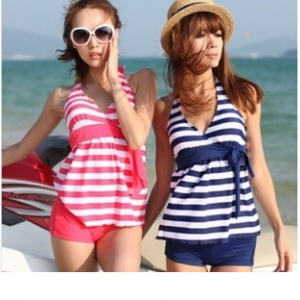 Special offer- Defective Striped design swimsuit