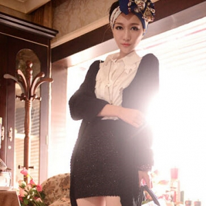 K07 Stretchable Knitted Skirt